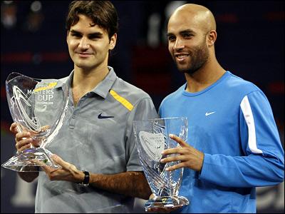 Roger Federer and James Blake