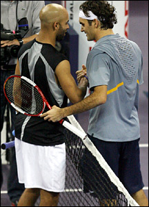James Blake and Roger Federer