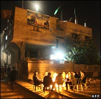 Palestinians gathered at the house of Mohammedweil Baroud