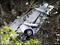 Wreckage of the Gol Airlines Boeing 737 (File: 3 October 2006)