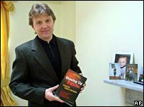 Alexander Litvinenko with his book