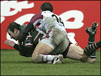 Leicester's Geordan Murphy