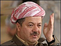 Iraqi Kurdish leader Massoud Barzani