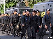 Indonesian police officers in Bogor