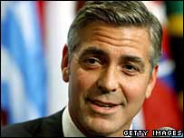 George Clooney addresses the UN about Darfur