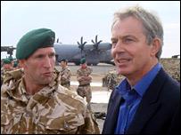 Blair meets troops in Afghanistan