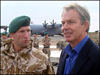 Blair in Afghanistan