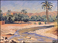 View of Tinherir painting by Winston Churchill
