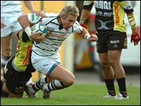 Justin Marshall in action against Calvisano