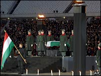The state mourning ceremony at the Puskas stadium in Budapest