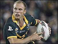 Darren Lockyer in action in the 2006 Tri-Nations