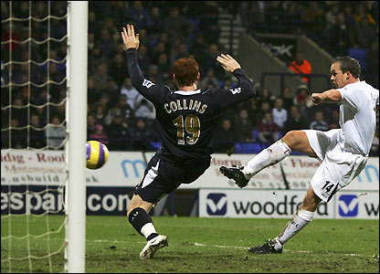 Kevin Davies score his first goal