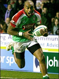 London Irish winger Saliosi Tagicakibau