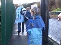 Children on way to school