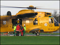 RAF Sea King at Raigmore Hospital