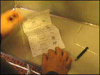 Person with ballot paper