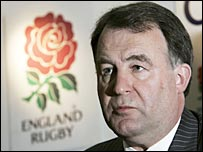RFU chief executive Francis Baron