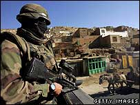 Nato (Isaf) soldier in Kabul, Afghanistan (November 2006)