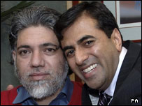 Mirza Tahir Hussain (left) and his brother Amjad Hussain