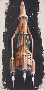 Thunderbird 3 painting