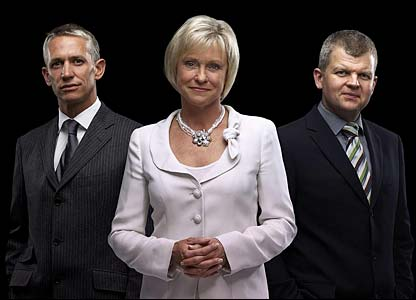 Gary Lineker, Sue Barker and Adrian Chiles