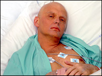 Alexander Litvinenko in hospital