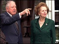 Gen Augusto Pinochet, Baroness Thatcher in 1999
