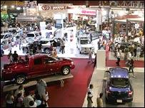 Feria de autom�viles en Caracas.