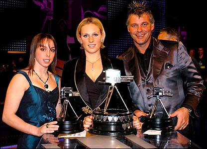 Beth Tweddle, Zara Phillips and Darren Clarke