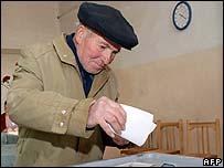 Voter in Nagorno-Karabakh