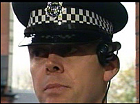 Haringey policeman wearing the head camera