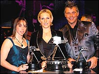 Beth Tweddle (left), Zara Phillips (centre), Darren Clarke (right)