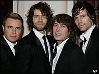 Gary Barlow, Howard Donald, Mark Owen and Jason Orange
