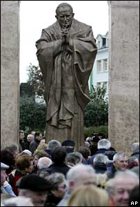 Statue of Pope John Paul II in Ploermel, Brittany