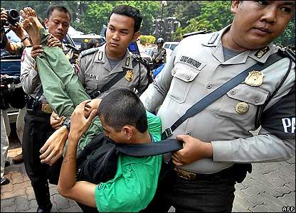 Greenpeace protester in Jakarta