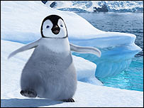 Mumble the penguin from the film Happy Feet