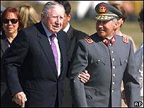 Augusto Pinochet regresa de Londres