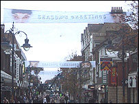 Christmas banners in Gravesend