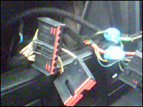 Wires from a stolen car stereo