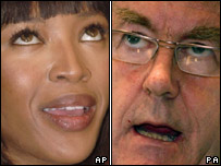 Naomi Campbell and Rhodri Morgan