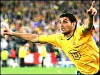 Australian goal in match against Uruguay.