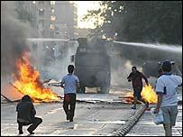Disturbios en las calles de Santiago de Chile
