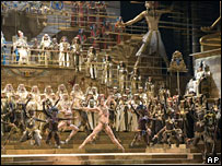 The opening performance of Aida at La Scala