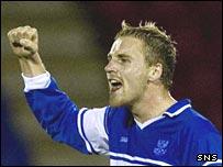 St Johnstone midfielder Ryan Stevenson
