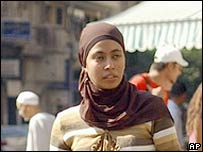 A woman wears the Islamic headscarf (hijab) in Cairo. File photo.
