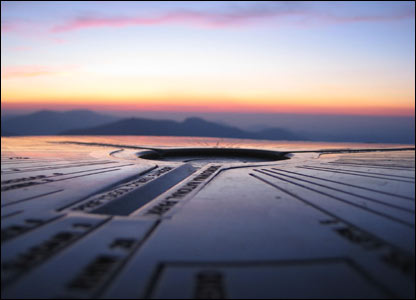 Lise Cheron rested her camera on the sundial at the top of Snowdon for this image