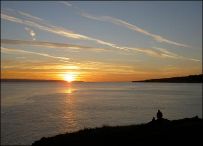 Kevin Gwilliam sent this shot of sunset from Coldknap Point at Barry