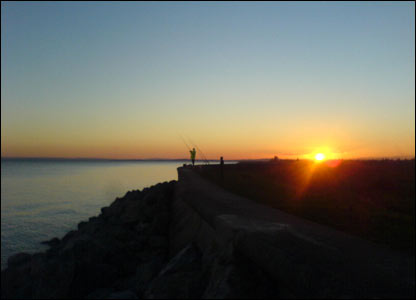 Sunset fishing at Marshfield, Newport submitted by Ben Rees from Llandaff North