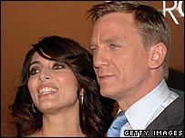 Daniel Craig and Caterina Murino