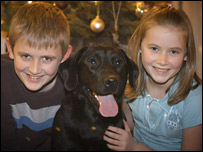 Sion and Mari Hughes with Obi